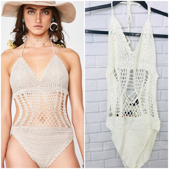 naked wardrobe Other - Naked Wardrobe sexy crochet swimsuit Sz M/L NWT